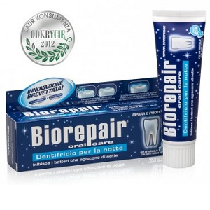 Зубная паста перед сном- Biorepair Intensive Night Repair (ночное восстановление) 75мл