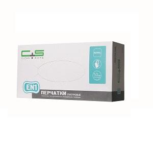 Перчатки нитриловые, текстурированные «Clean+Safe» (EN1)