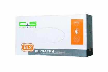 Перчатки латексные, текстурированные, двойного хлорирования, (EL2) «Clean+Safe»