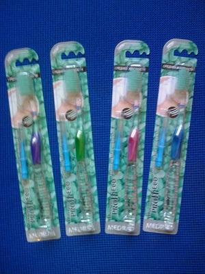 Зубная антибактериальная щетка с Нефритом Jade, Doctor Proff Eco