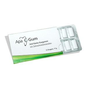 Жевательная резинка ApaGum с эффектом антикариес, 12шт в упаковке.