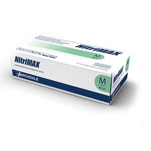Перчатки нитриловые диагностические нестерильные зелёные NitriMAX
