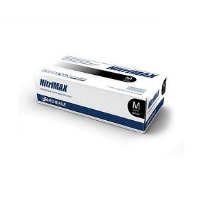 Перчатки нитриловые диагностические нестерильные чёрные NitriMAX