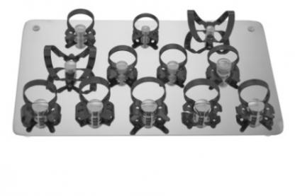 Набор из 12 клампов для раббердама с черным покрытием