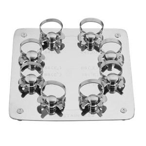 Набор из 8 клампов раббердам/коффердам для молочных зубов на подставке (Dentech, Япония)