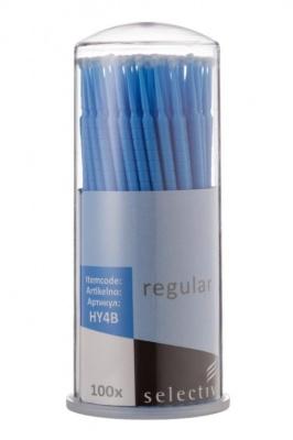 Микроаппликаторы стоматологические, размер Regular, 100 шт, синие