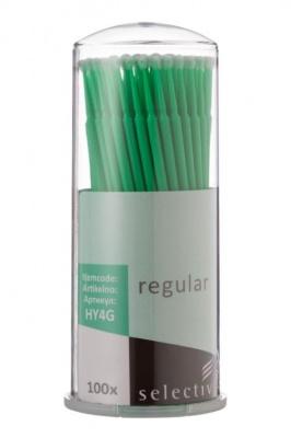 Микроаппликаторы стоматологические, размер Regular, 100 шт, зелёные