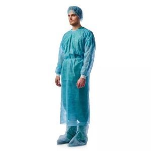 Халат хирургический, стерильный, рукава на манжетах, 1шт.