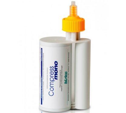 Bisico Compress mono, Универсальный гидрофильный материал для монофазных оттисков, 1 картридж 380 мл,10 смесителей