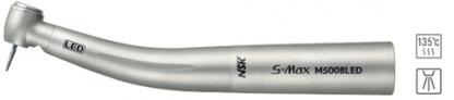 S-Max M500BLED - турбинный наконечник с миниатюрной головкой, интегрированной LED подсветкой, четырехточечным спреем и керамическими подшипниками, подключение к переходнику Bien-Air (NSK, Япония)