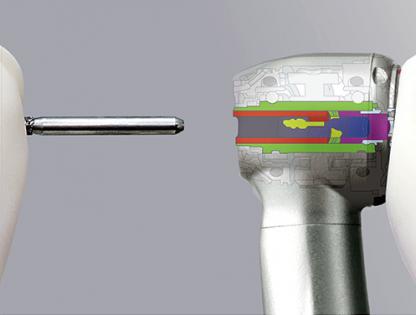 PANA-MAX PLUS MU B2 - турбинный наконечник с миниатюрной головкой, без оптики, с четырехточечным спреем и керамическими подшипниками, прямое подключение к шлангу Borden NSK (NSK, Япония)