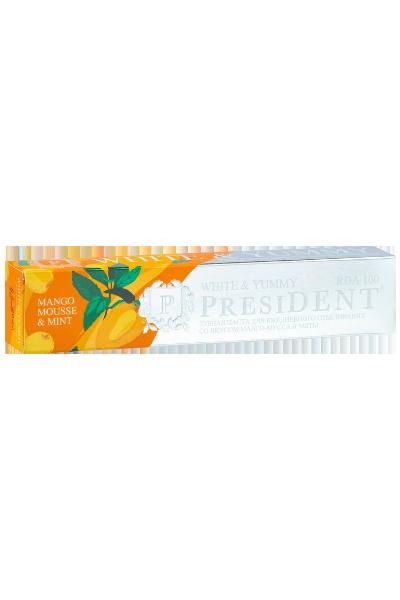 PRESIDENT White & Yummy зубная паста манго-мусс с мятой