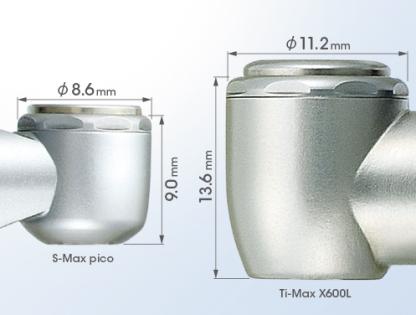 S-Max pico - турбинный наконечник с ультра-миниатюрной головкой, с оптикой, одинарным спреем и керамическими подшипниками