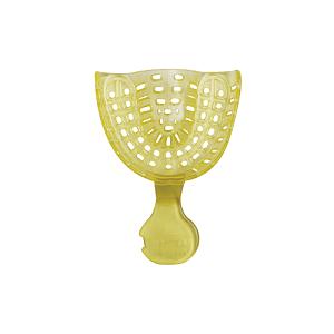 Ложка слепочная стоматологическая пластиковая UL (верхняя большая желтая) 40 штук