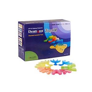 Набор слепочных стоматологических ложек DentiAnn Tray100 (100 штук, цветные)