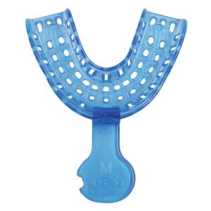 Ложка слепочная стоматологическая пластиковая LM (нижняя средняя синяя) 48 штук