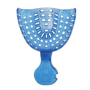 Ложка слепочная стоматологическая пластиковая UM (верхняя средняя синяя) 48 штук